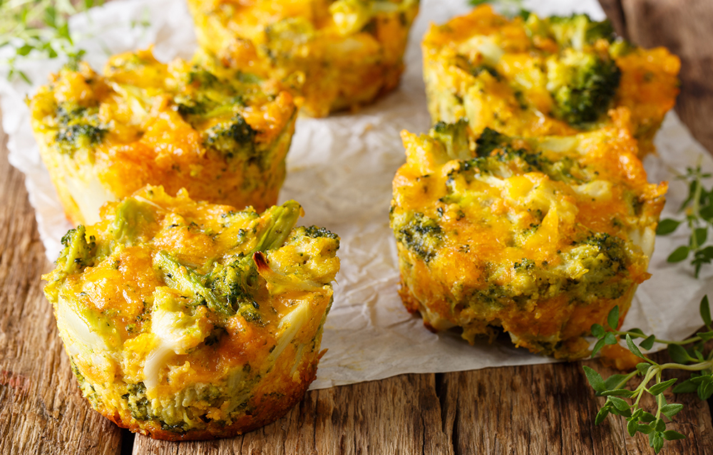 The Benefits of eggs can be found in this muffin recipe