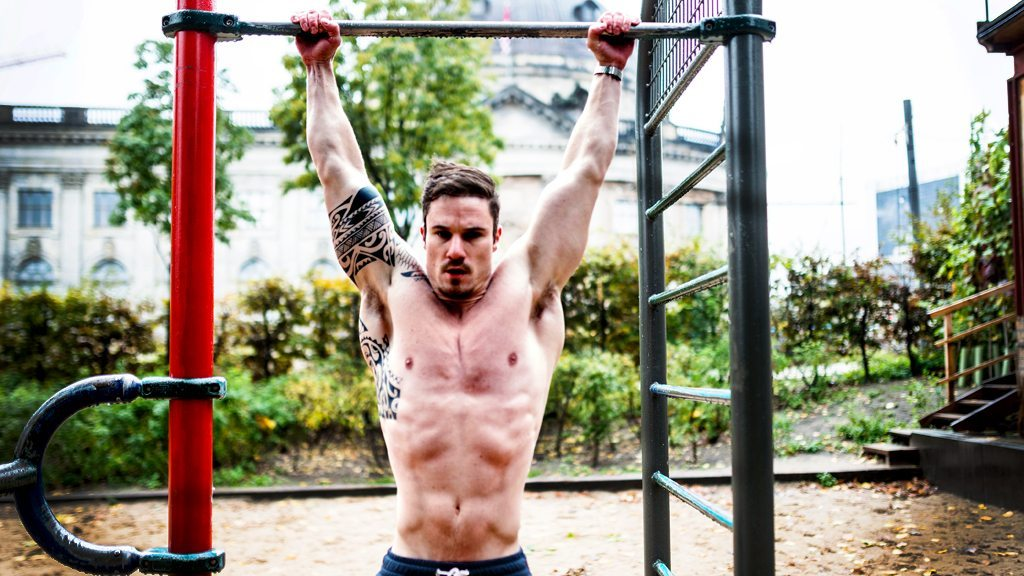 City workout, pull-ups, urban, strength, muscles