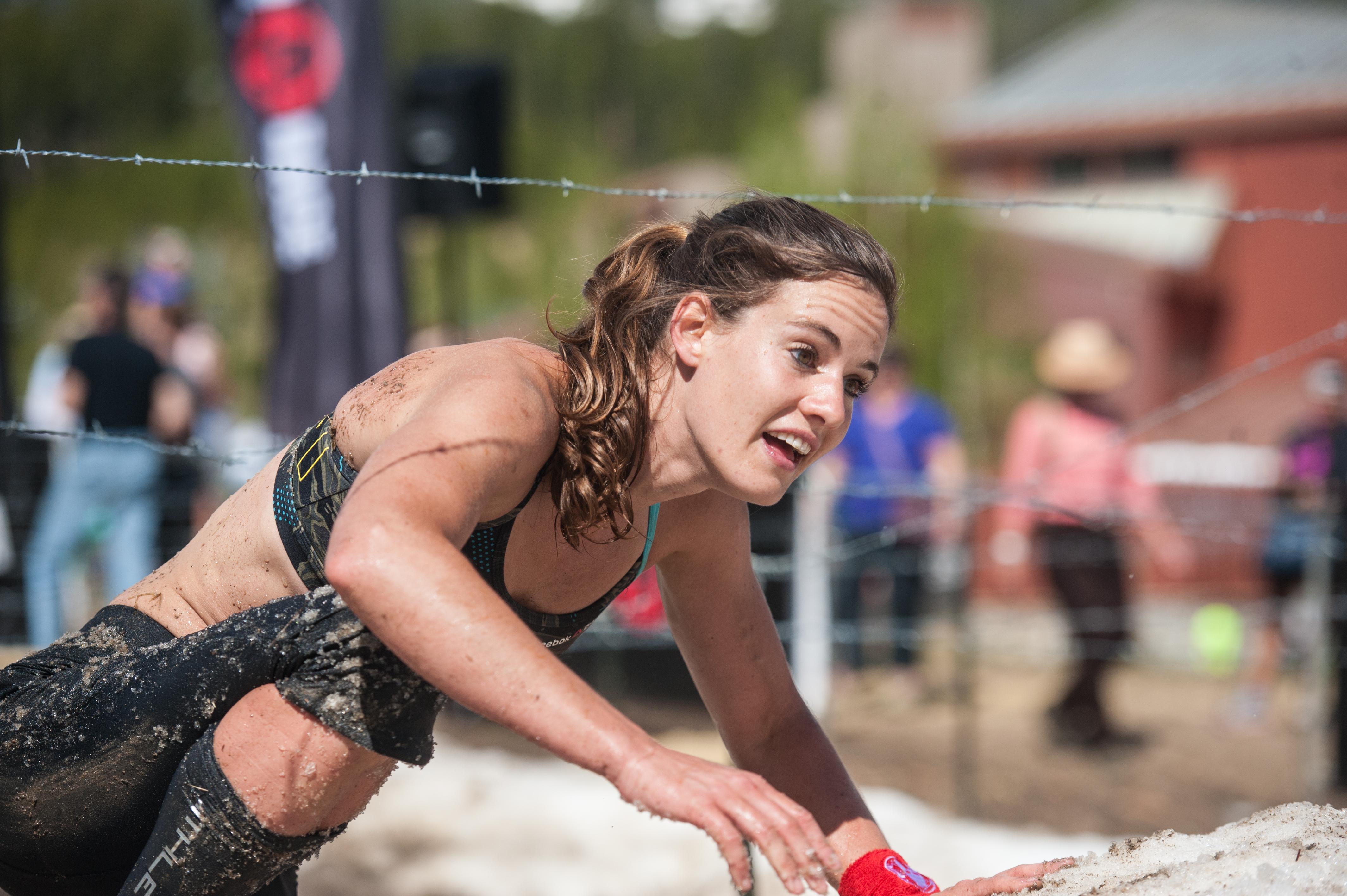 Lindsay Webster competing