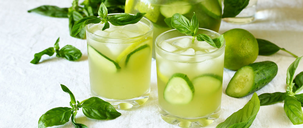 Cucumber Basil Mocktail