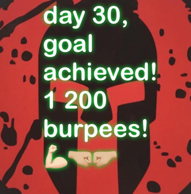 Spartan Burpee Challenge photos 1200 burpees.