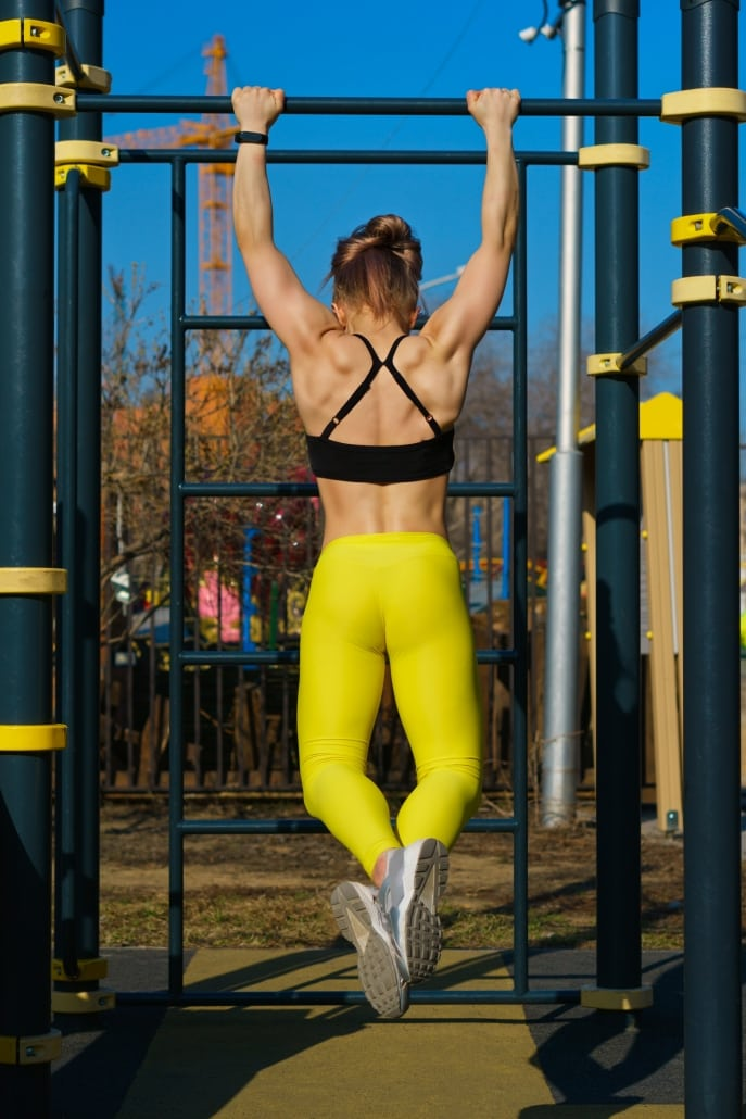 Get strict pull-ups by doing them outside.