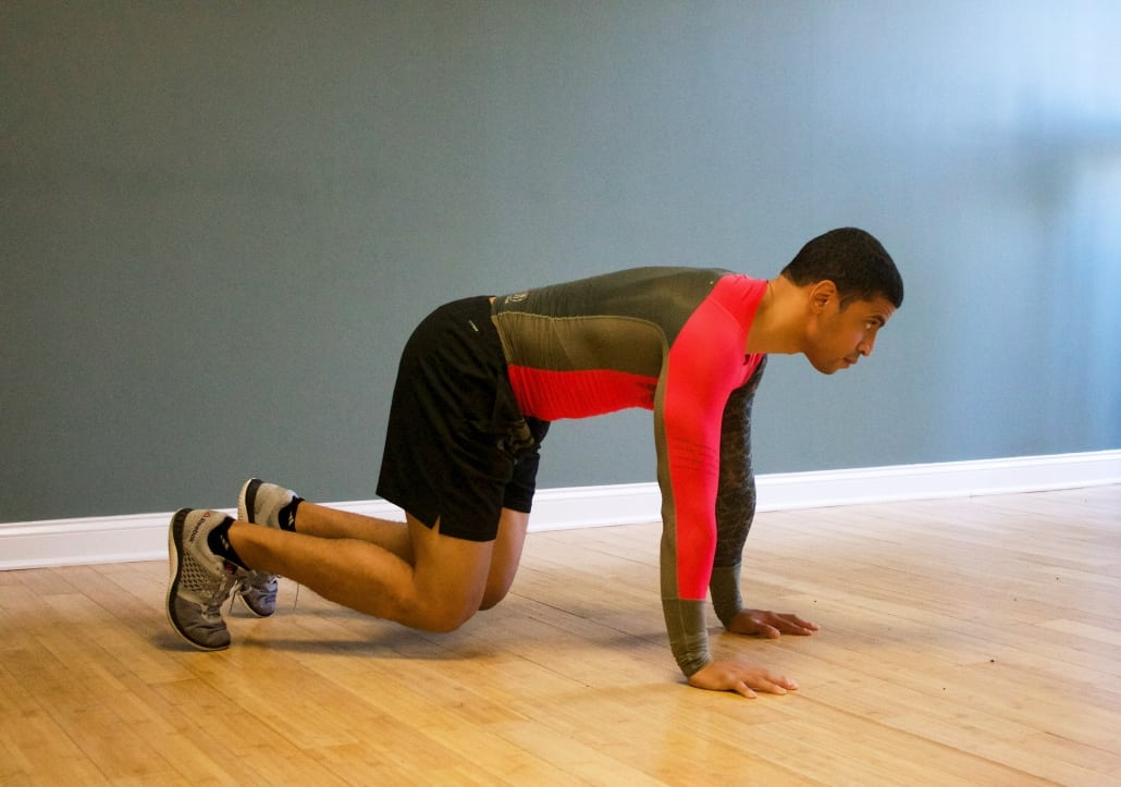 Underrated bodyweight exercises roll to bear position 2