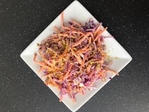 coleslaw carrots pistachios