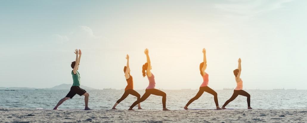 beach body challenge and yoga