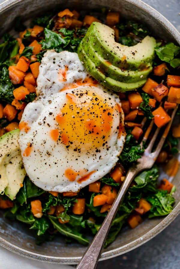 plant-based meals kale sweet potato