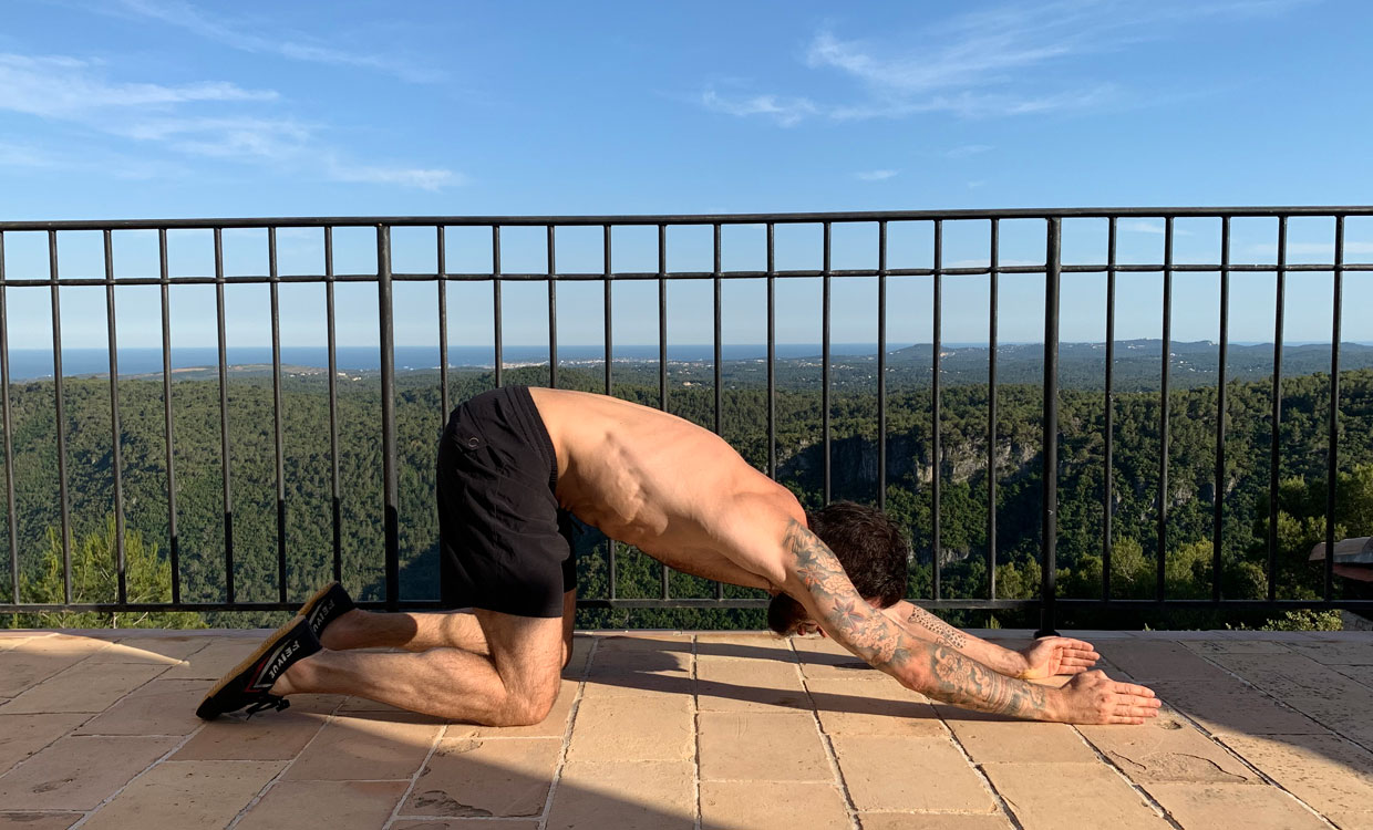 yoga for training recovery spine lengthening shoulder stretch