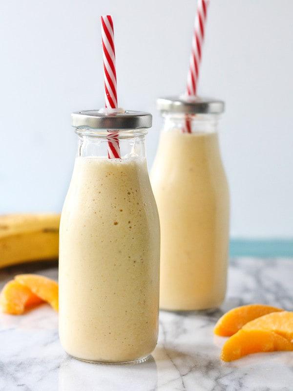 peach banana protein shake
