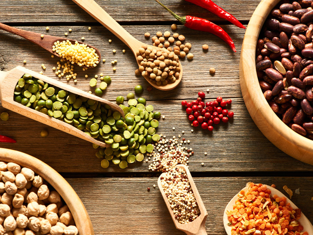 high-protein vegetables beans and legumes