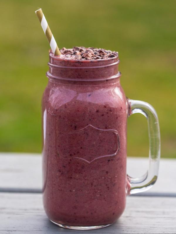 while cherry protein shake
