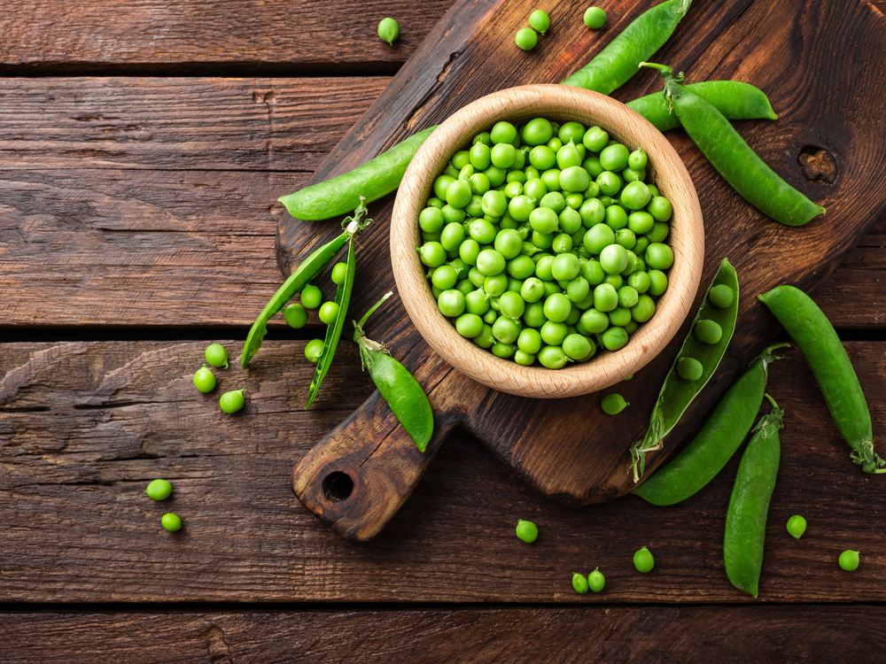 high-protein vegetables green peas