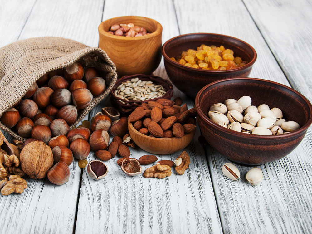 plant-based foods nuts and seeds