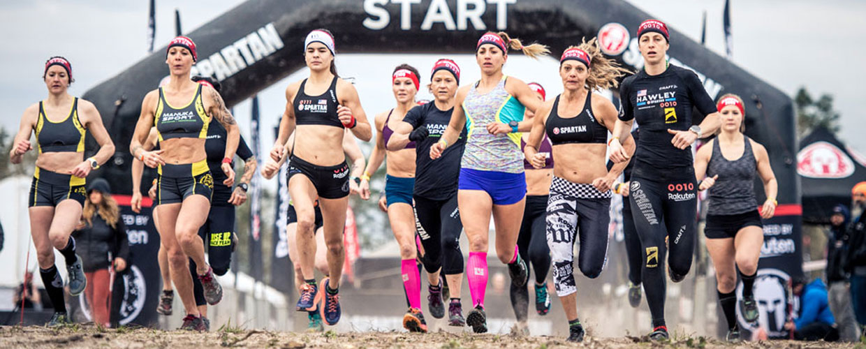 spartan race guide women at starting line