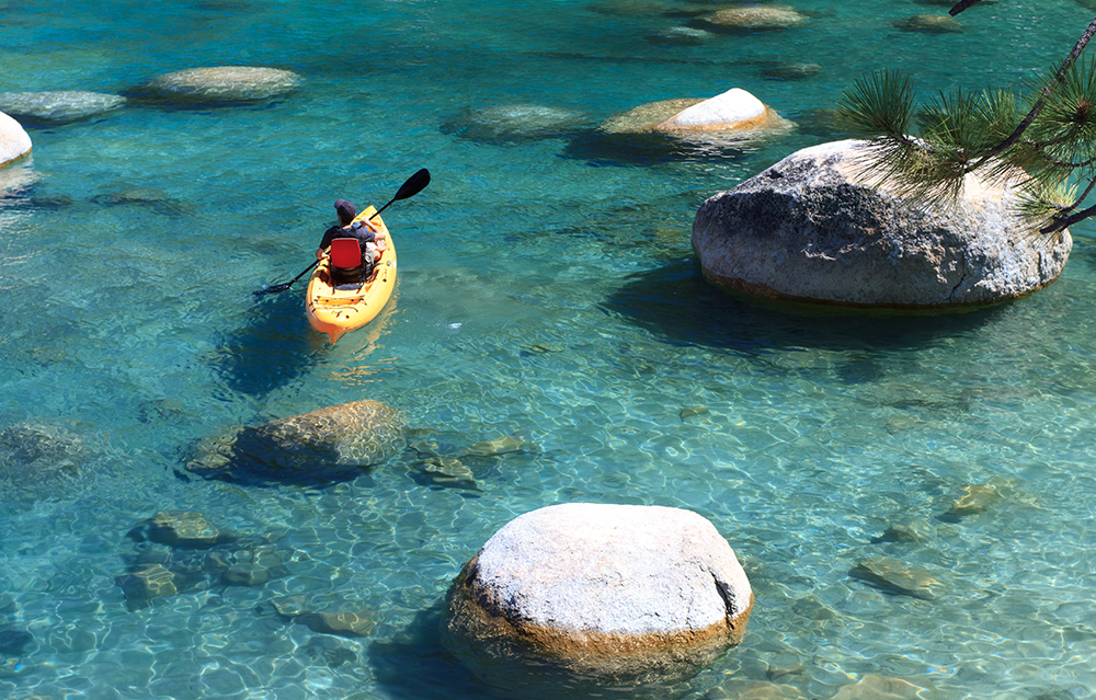 active things to do in Tahoe kayak emerald bay