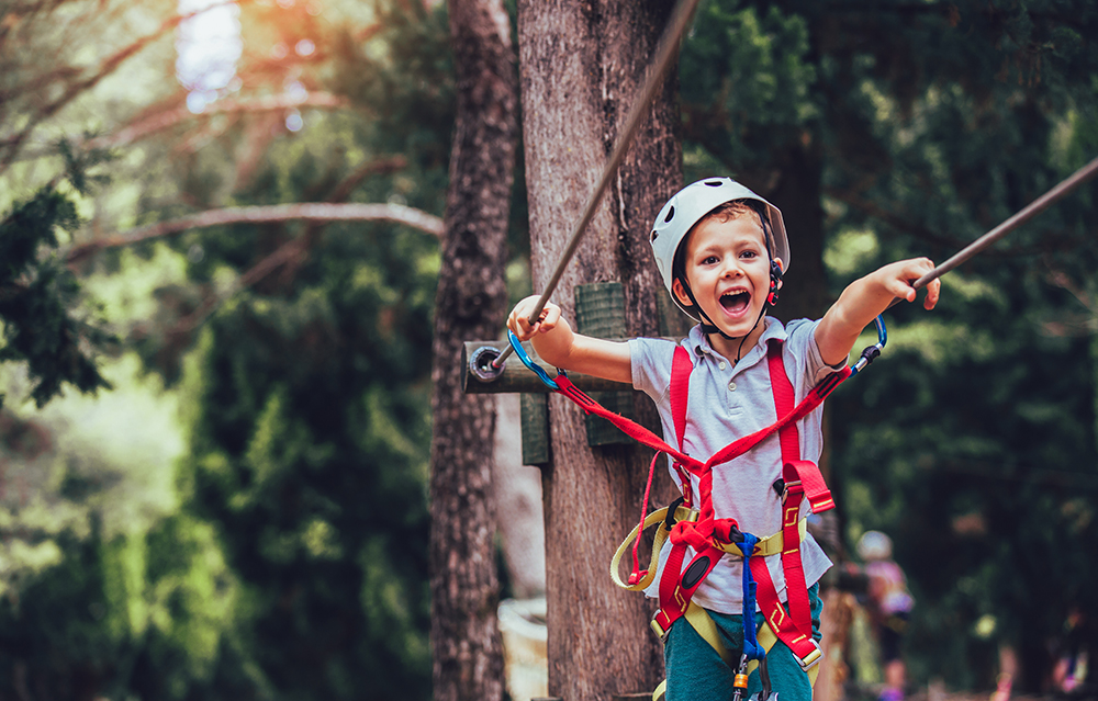 active things to do in Tahoe treetop adventure park