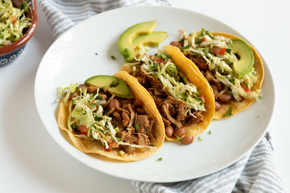 easy plant-based meals jackfruit pinto bean tacos