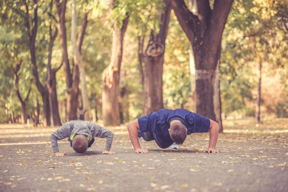 spartan kids' exercises pushups
