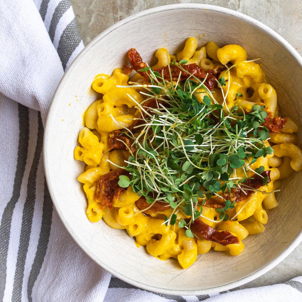 easy plant-based meals mac n cheese
