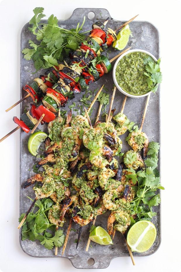 healthy grilling ideas chimichurri shrimp