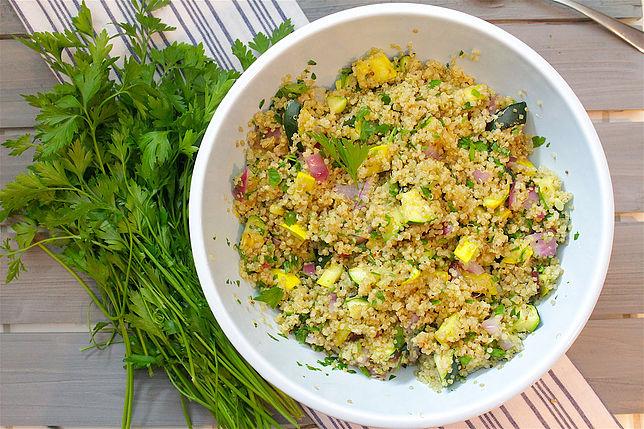 healthy grilling ideas grilled quinoa salad
