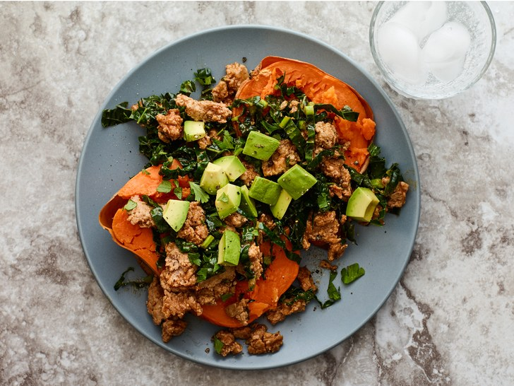 sweet potato and turkey mash up