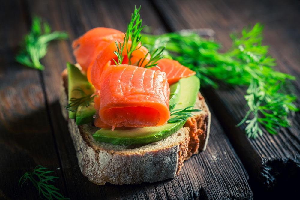 salmon avocado toast eggless breakfast