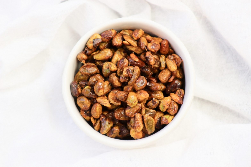 candied ginger pistachios