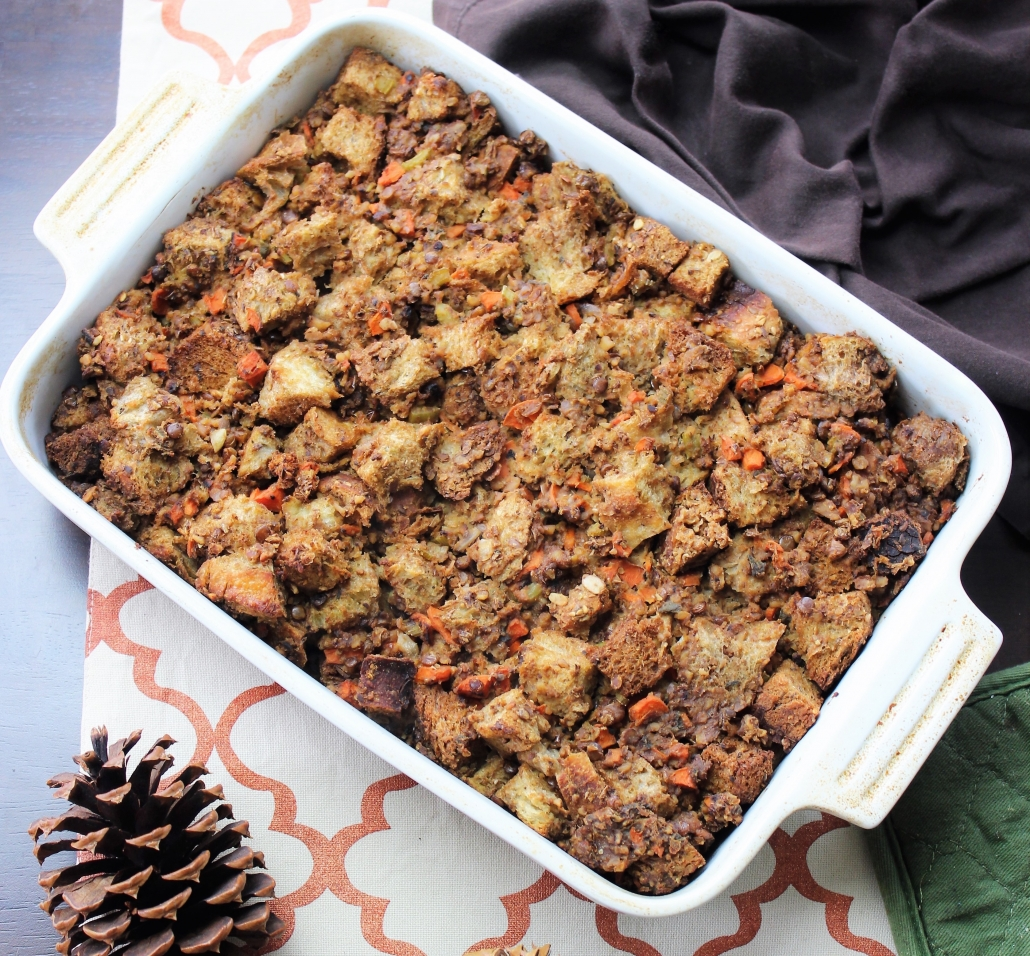 lentil walnut stuffing clean thanksgiving recipes
