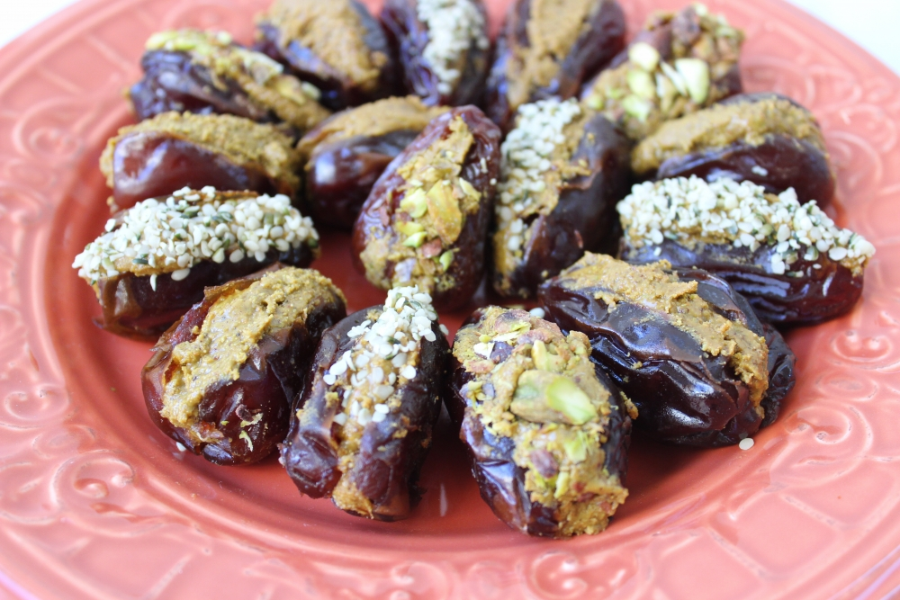 pistachio stuffed dates clean thanksgiving recipes