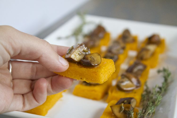 sweet potato polenta bites