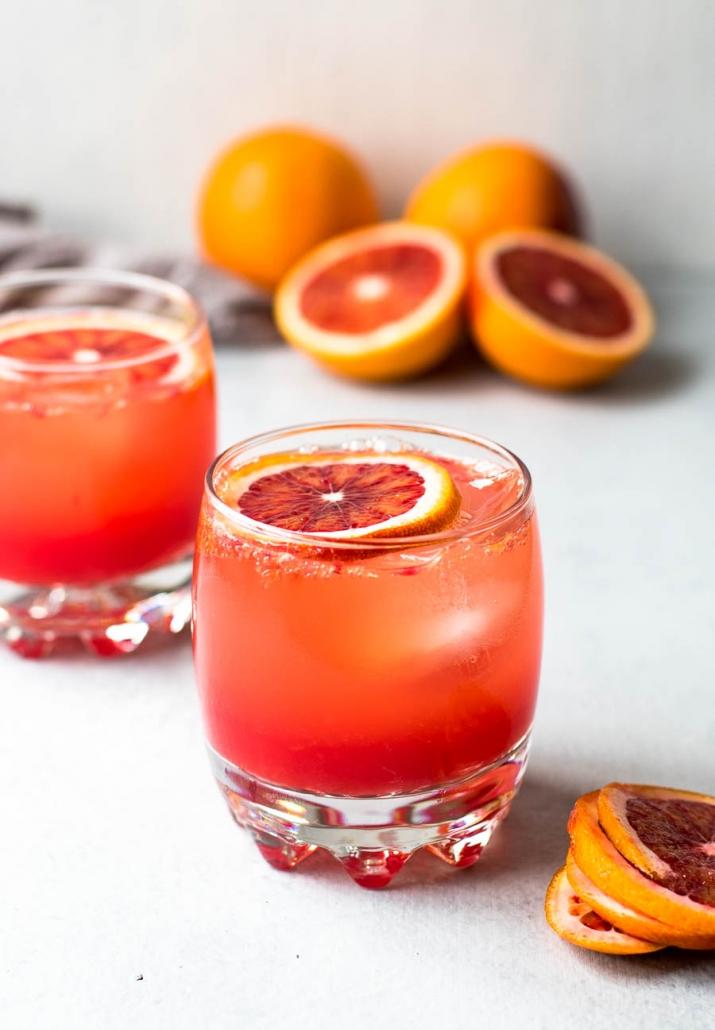 blood orange mocktail