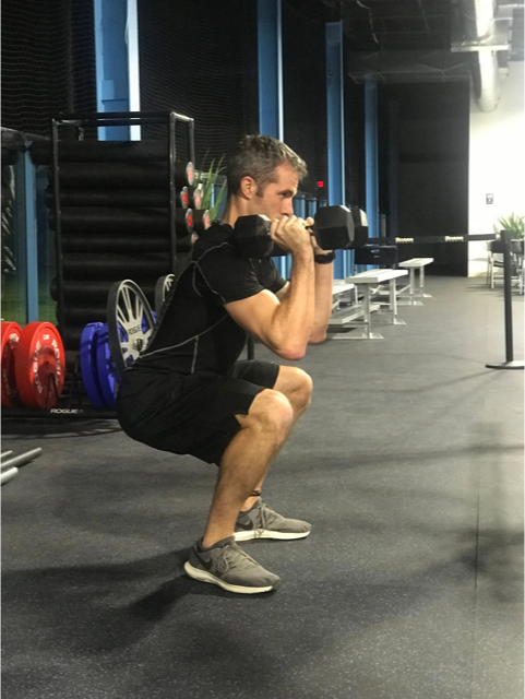 quick HIIT workout DB squats