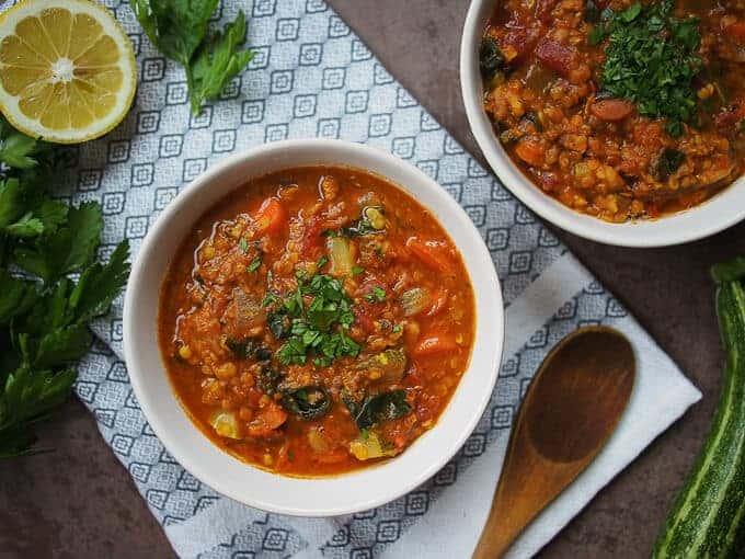 lentil soup high-protein soup ideas
