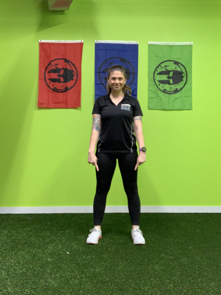 bodyweight squat starting position