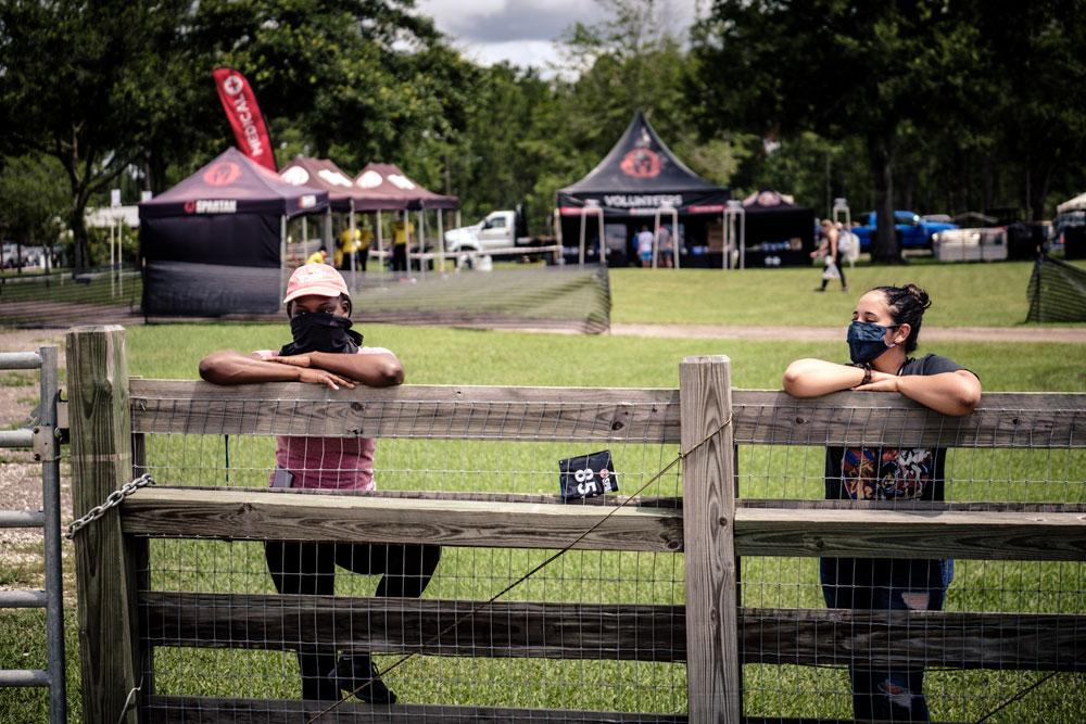jacksonville volunteers racing during covid