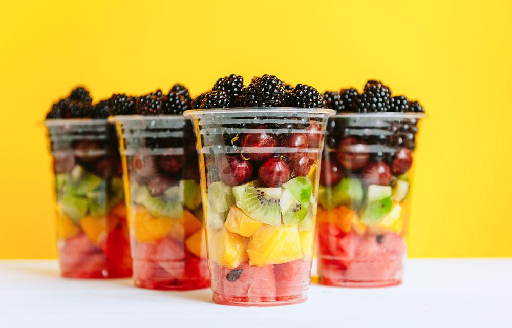 rainbow fruit cup