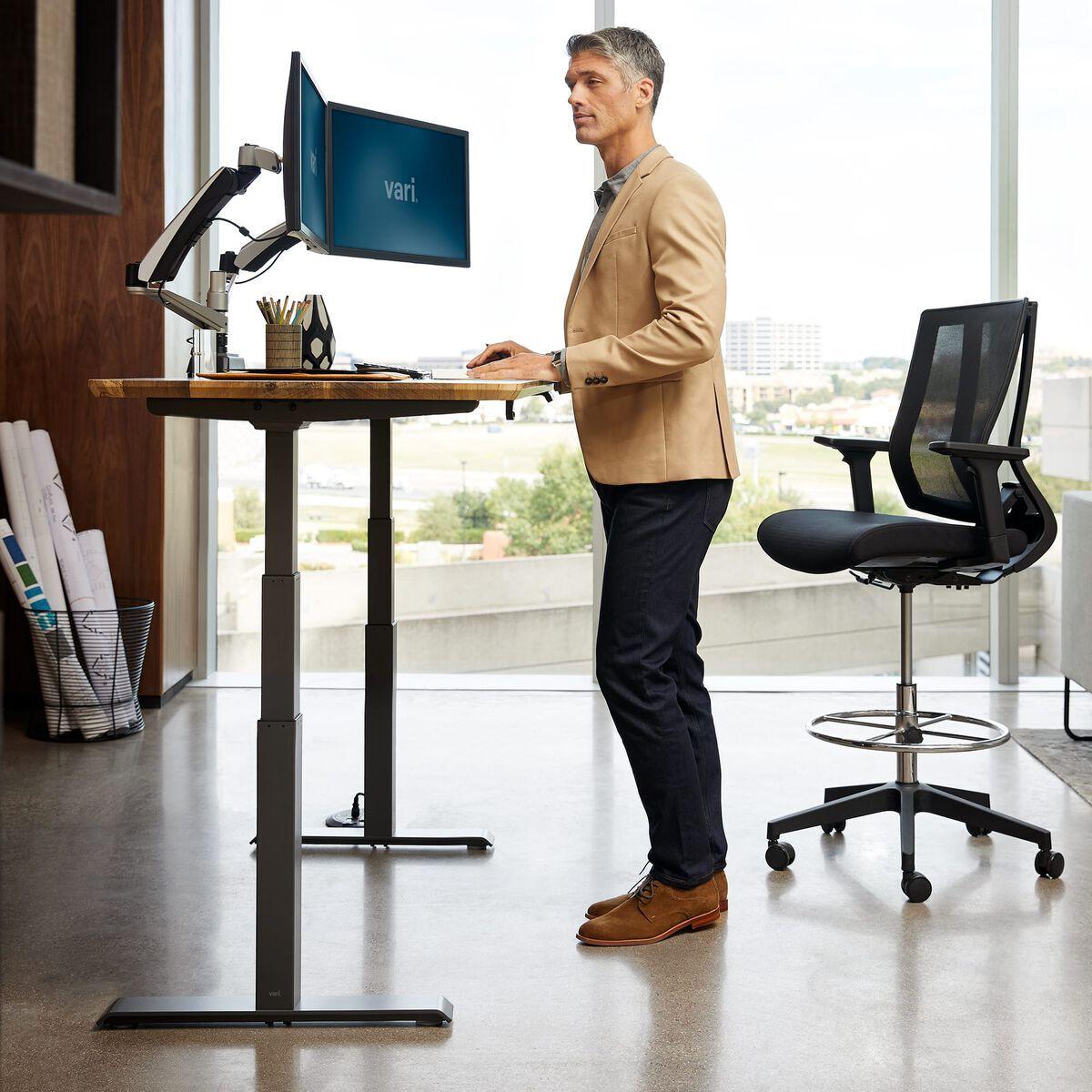 vari standing desk exercises